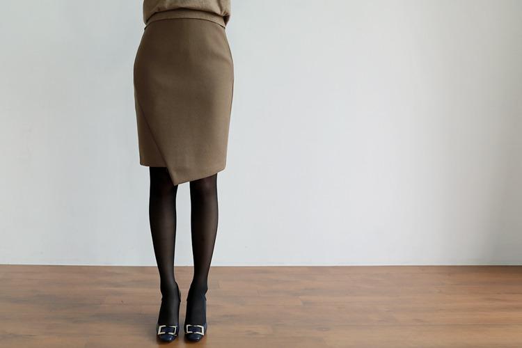 [후기98개]루카 언발 울스커트(3color) 베이지,브릭,블랙