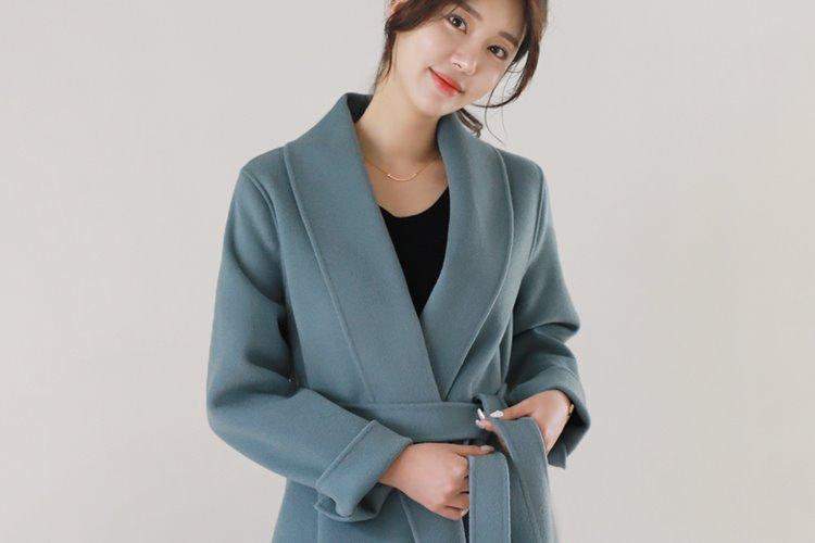 [러패제작/한정수량][울100%](pastel blue) 뮤즈 숄카라 핸드메이드
