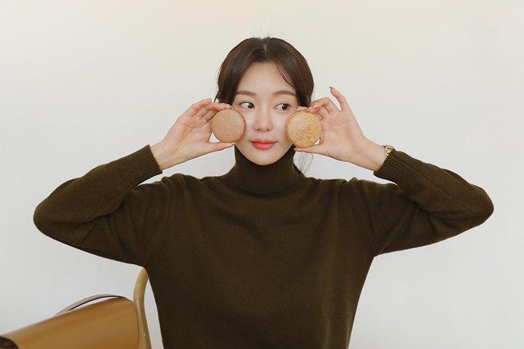 마카롱 울 80% 폴라니트(5color) 베이지,브라운,블루,카키,옐로우♥ 당일 배송중 ♥