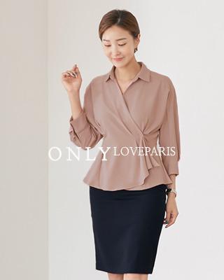 [러패독점-pink]오피스룩★최저가도전빈센트 랩 셔츠 블라우스(55/66/77 size)