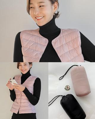 [후기183개]투웨이 데일리 경량 다운베스트(2color) 핑크,블랙