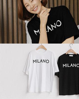 [후기237개]밀라노 코튼 티셔츠(2color) 블랙,화이트