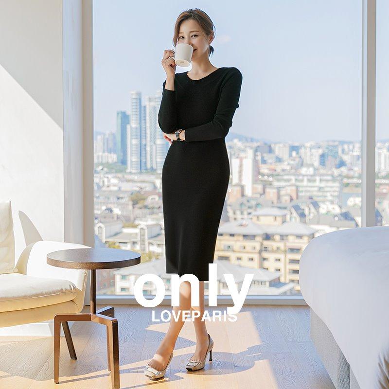 [러패독점]키엘 심플 긴팔 니트원피스♥ 당일 배송중 ♥