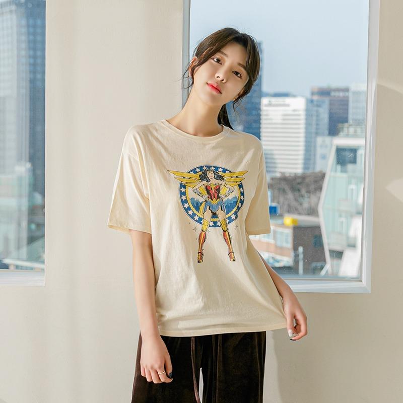 레이어드 원더우먼 티(2color) 아이보리,베이지