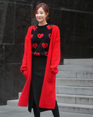 밍밍 앙고라가디건(2color)레드,그린FREE (44~77 size)