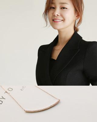 [후기156개]달-스틱 큐빅 목걸이