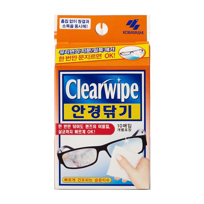클리어와이프 안경닦기(렌즈클리너) 10P