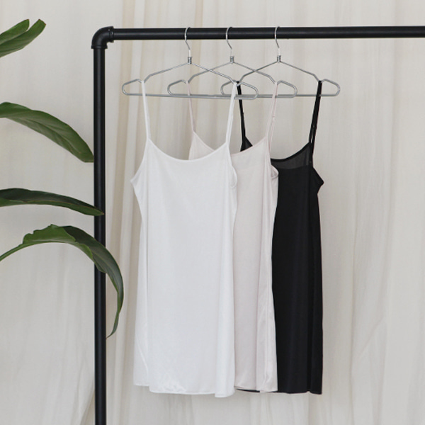 Longline Scoop Neck Slip Top
