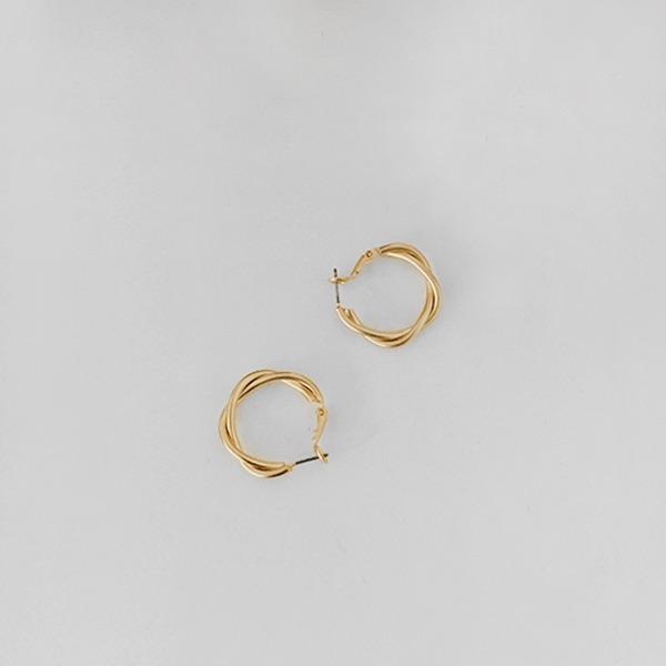 Twisted Hoop Omega Back Earrings