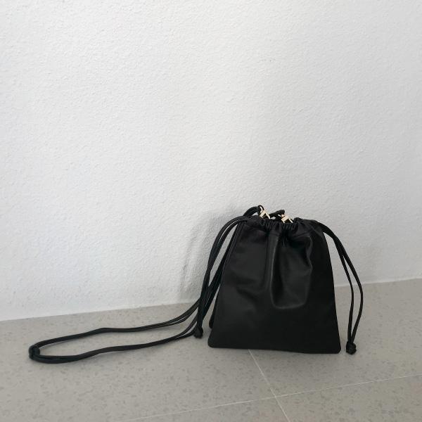 Sheepskin Drawstring Shoulder Bag