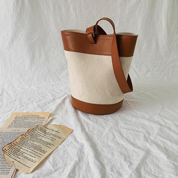 Two-Tone Bucket Bag