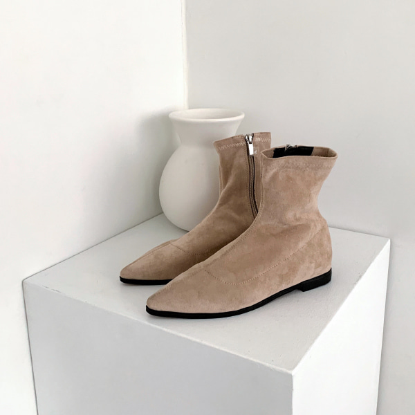 Side Zip Pointy Toe Boots