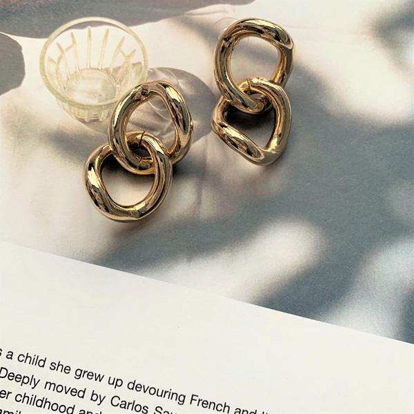 Chunky Linked Chain Earrings