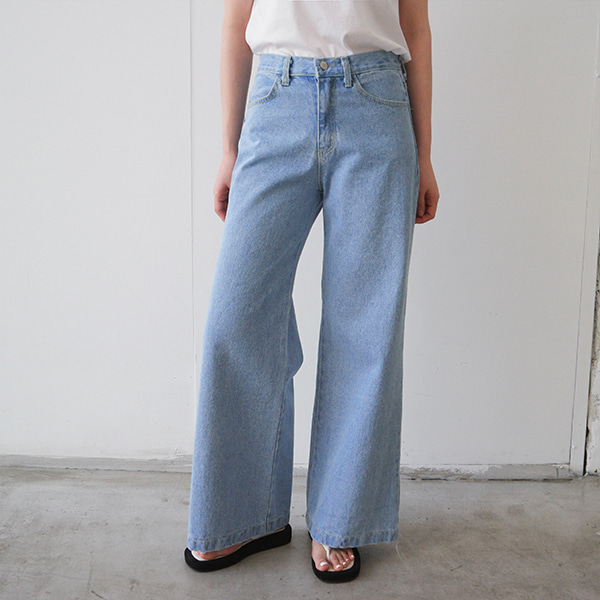 Wide Leg Light Blue Jeans