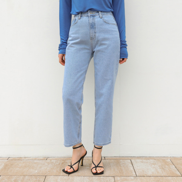 plain denim-pants