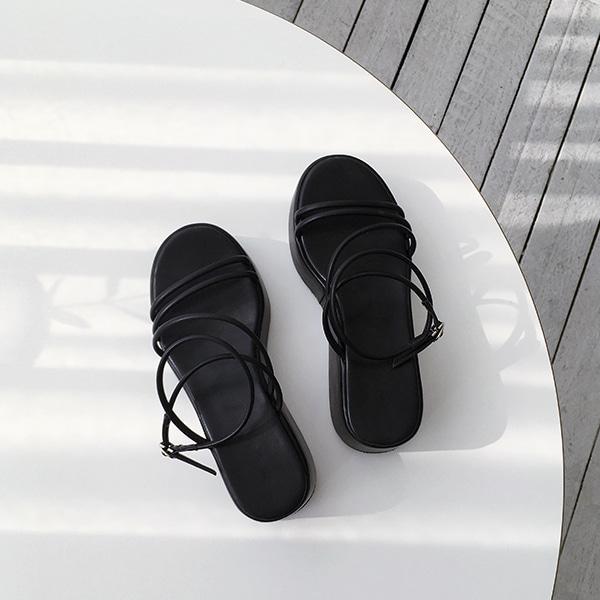 Strappy Platform Sole Sandals