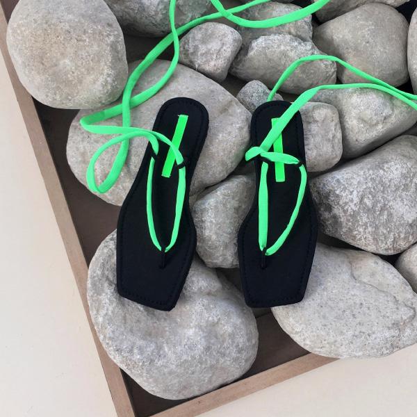 neon strap-sandal