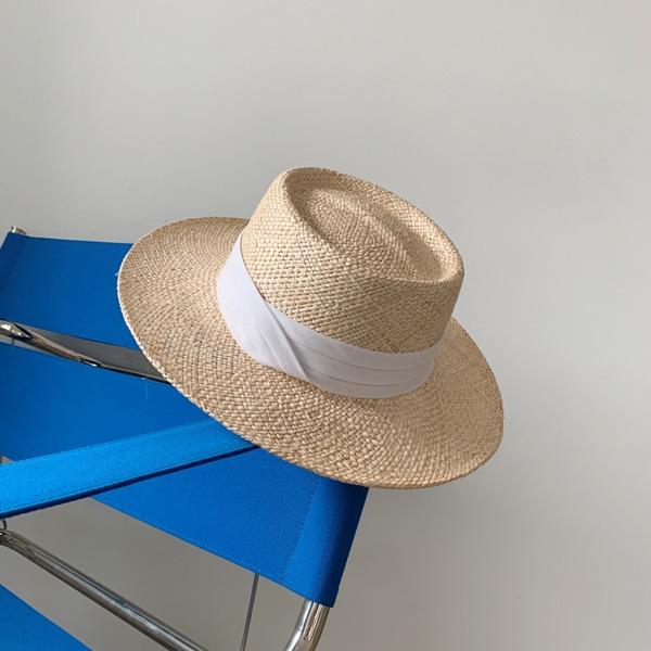 配色寬緞帶編織紳士帽