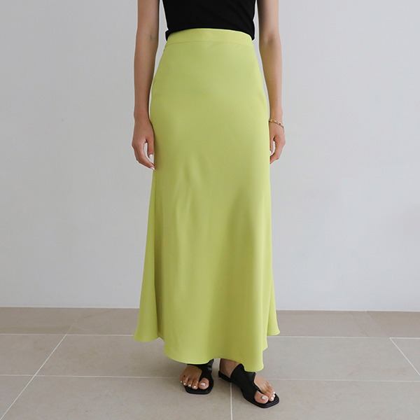 净版高腰长款半身裙