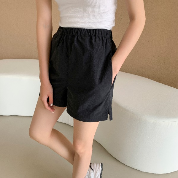 Side Slit Loose Shorts