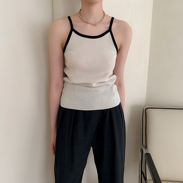 combo sleeveless-top