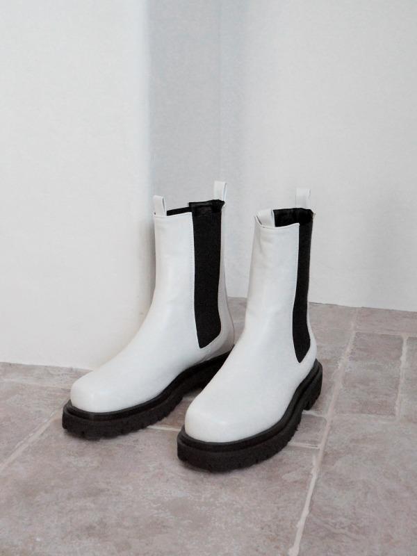 酷帥魅力鋸齒厚底切爾西靴
