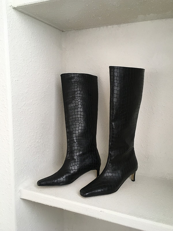 Textured Tall Boots