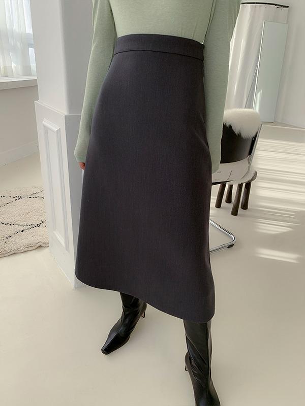 High Waist A-Line Long Skirt