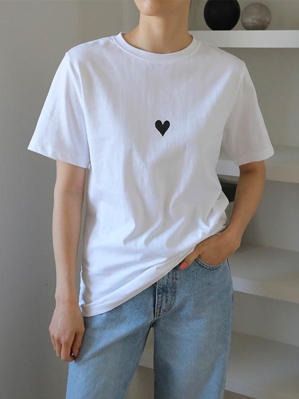 ハートポイント半袖Tシャツ
