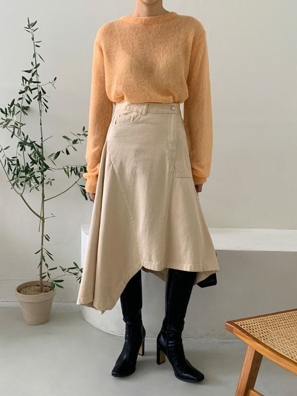 Flared Asymmetrical Skirt