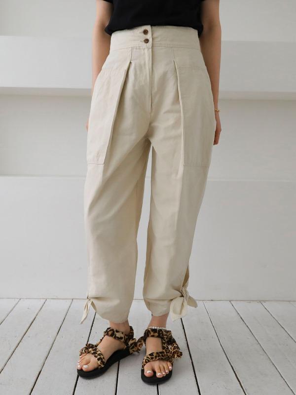double ribbon-pants