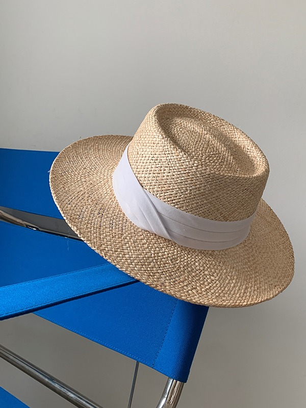 Twist Accent Band Woven Hat