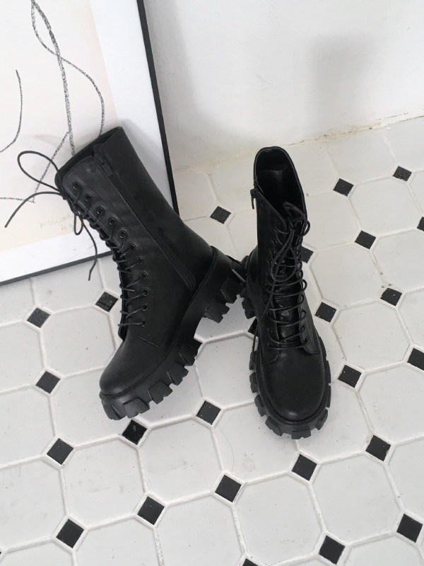 Chunky Sole Combat Boots