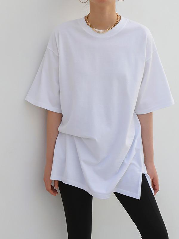 ルーズコットンロングTシャツ