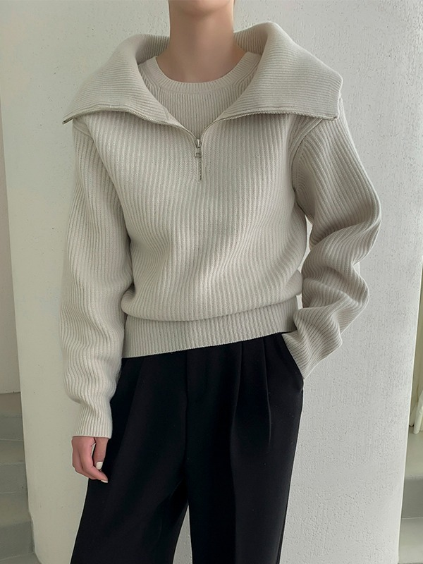 Mock Layered Knit Top