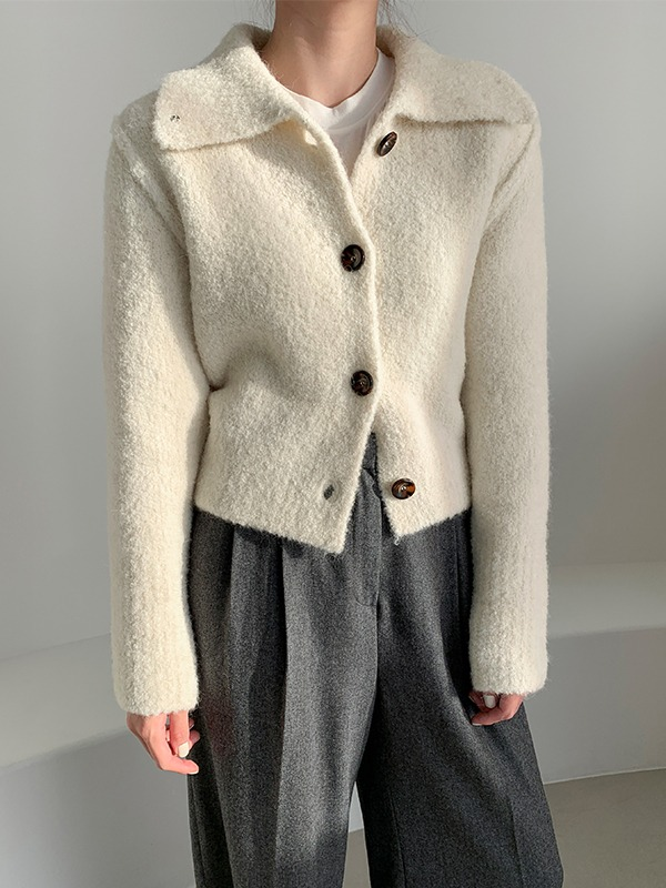 Wide Collar Extended Sleeve Cardigan