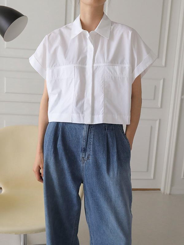 Cropped Short Sleeve Shirt