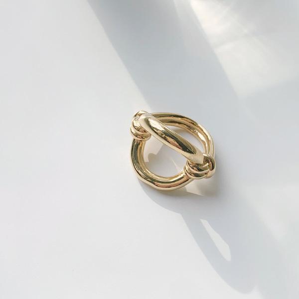 拧结式弯曲感圆环戒指