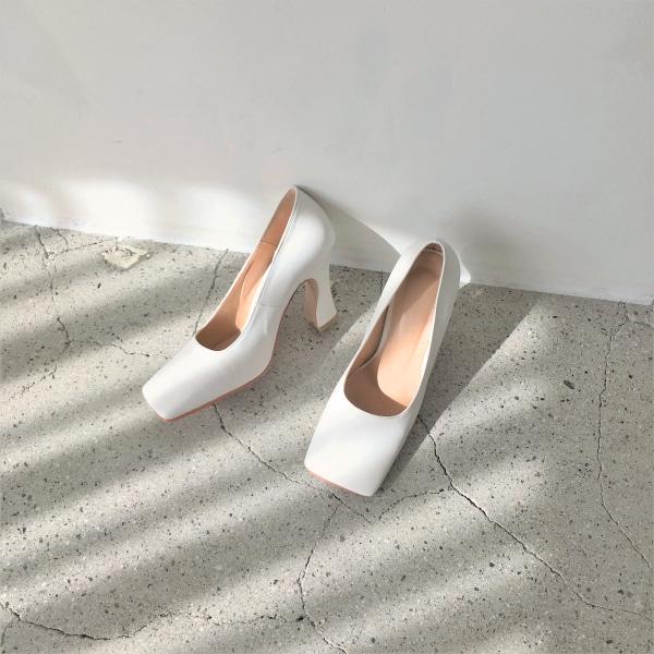 摩登淑女方頭純色高跟鞋