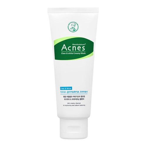Acnes Clear and White Creamy Wash 100g