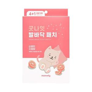 Monvely Good Night Foot Patch with Grapefruit Oil (10 Sheet Set)