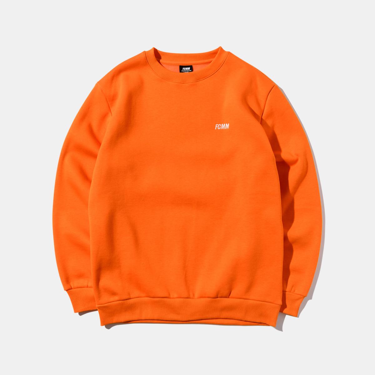 클럽 에센셜 맨투맨 - 오렌지