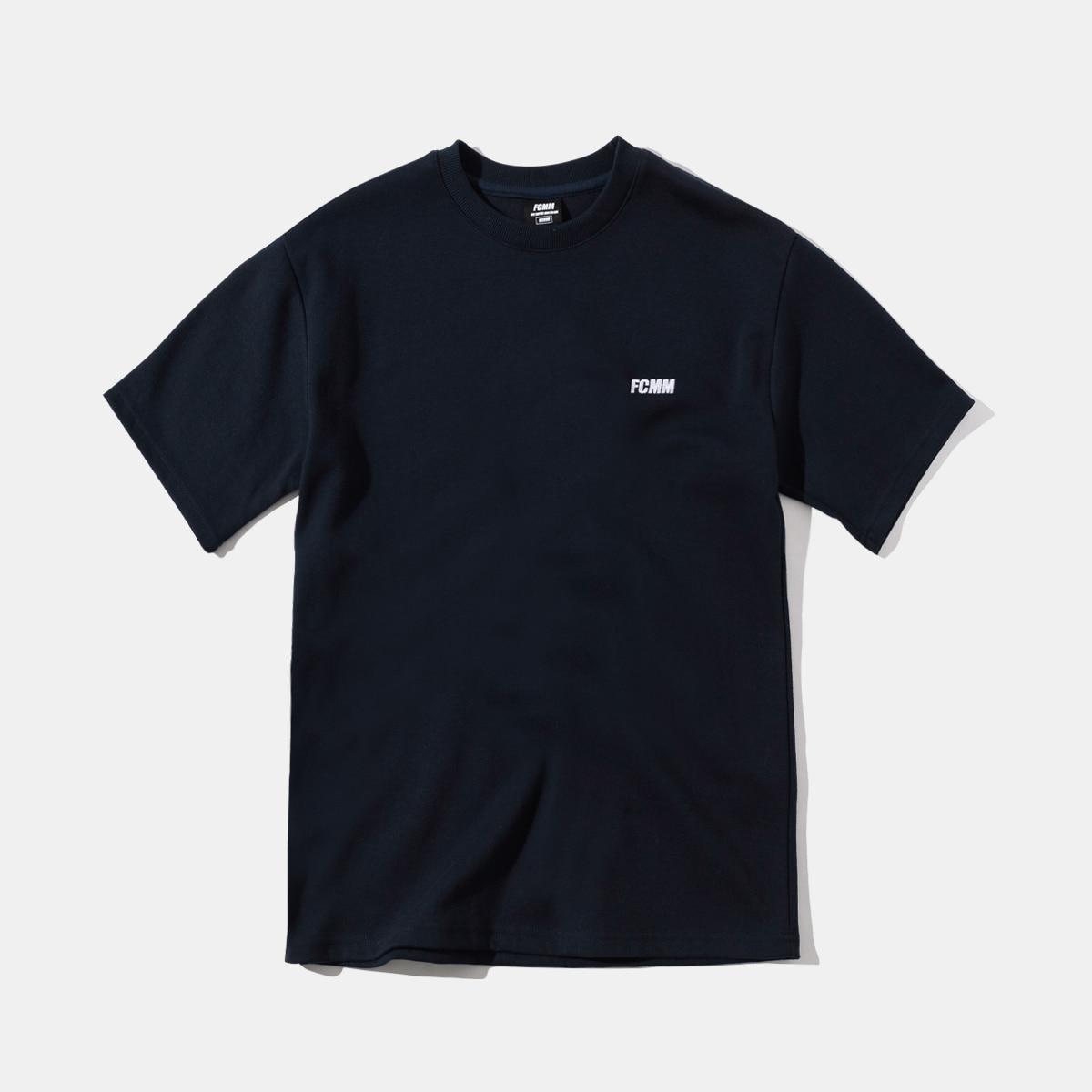 클럽 엠브로이드 티셔츠 - 네이비