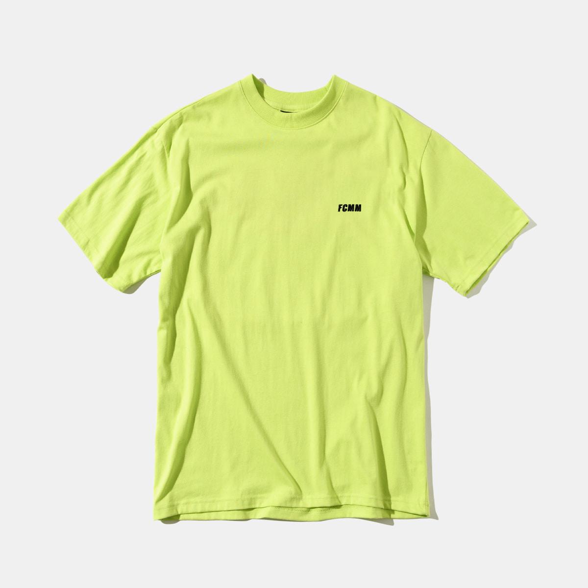클럽 엠브로이드 티셔츠 - 네온라임