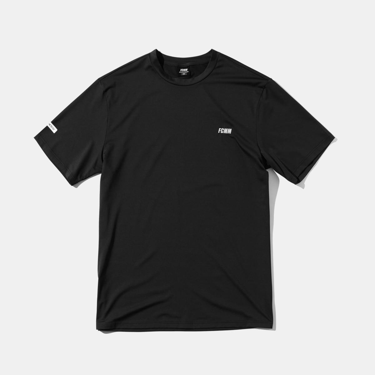 클럽 엠브로이드 에센셜 티셔츠 - 블랙/화이트