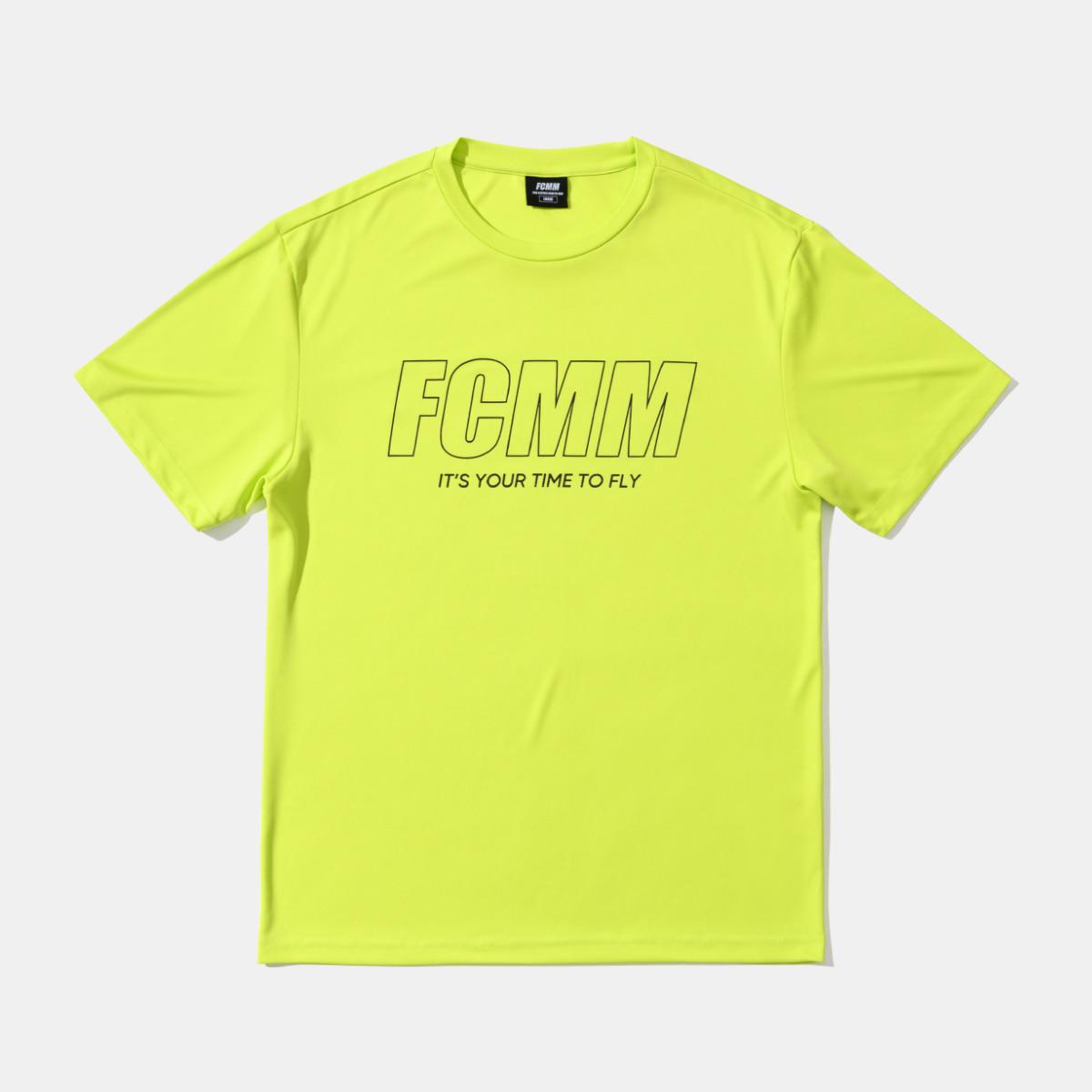 클럽 리니어 에센셜 티셔츠 - 네온라임