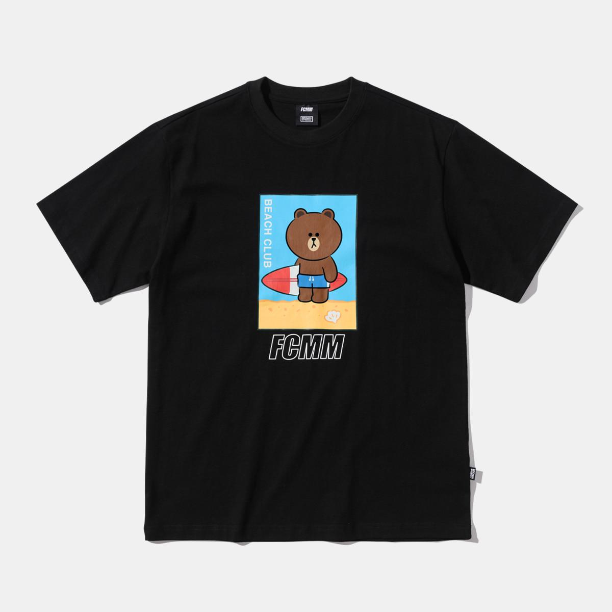 브라운앤프렌즈 서핑 티셔츠 - 블랙