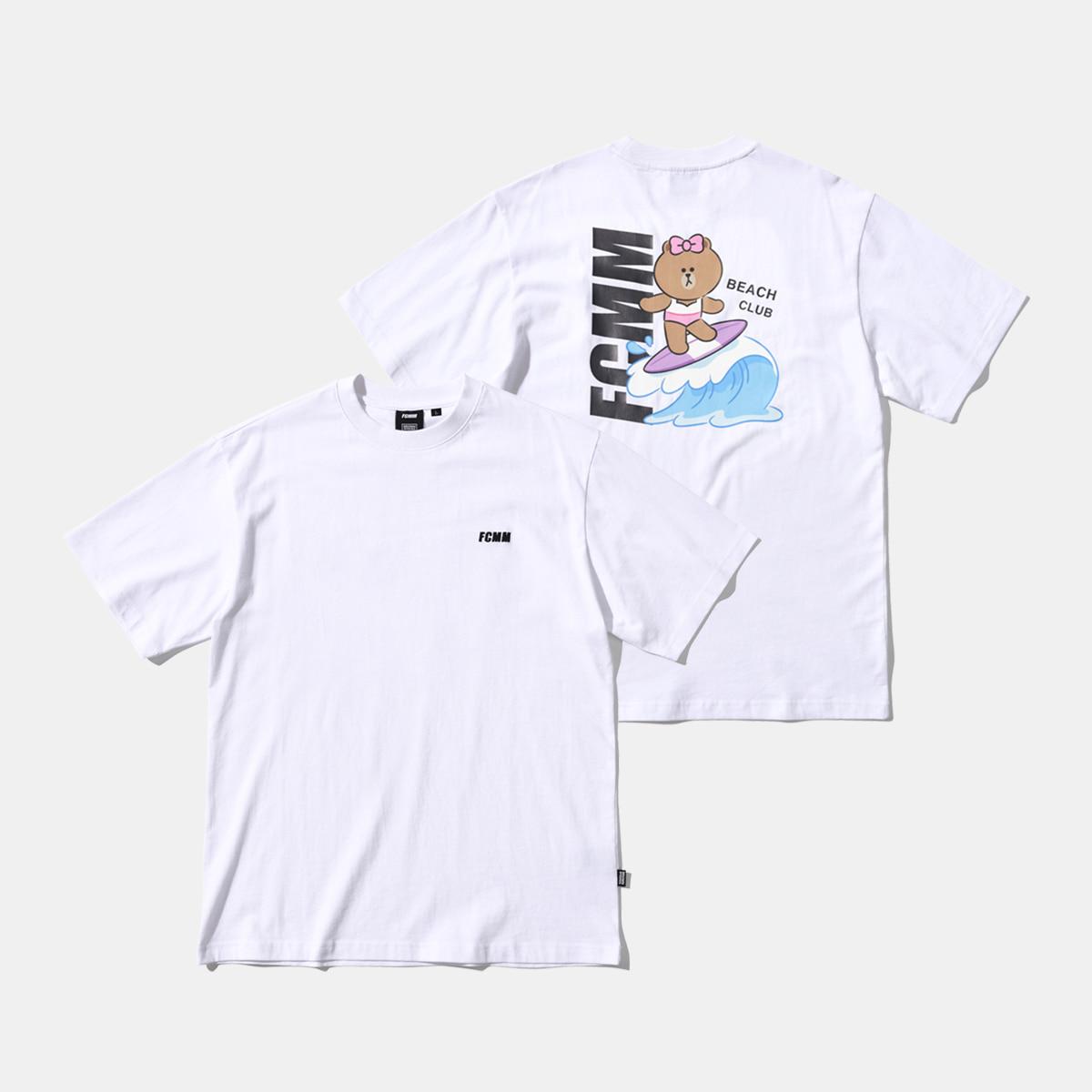 브라운앤프렌즈 서핑초코 티셔츠 - 화이트