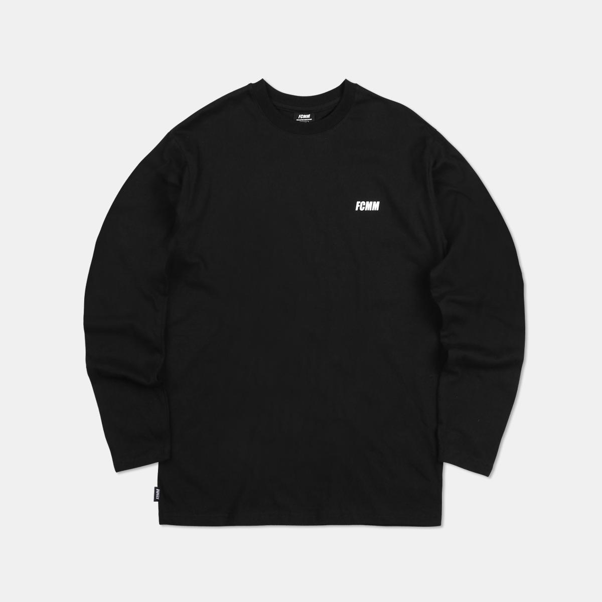 클럽 롱슬리브 티셔츠 - 블랙