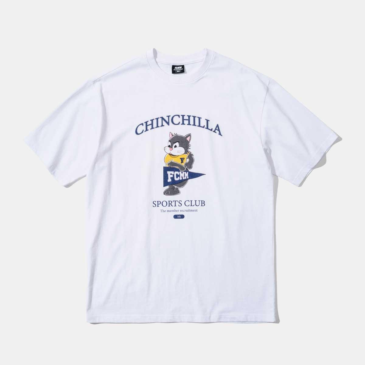 친칠라 마스코트 스포츠 클럽 티셔츠 - 화이트
